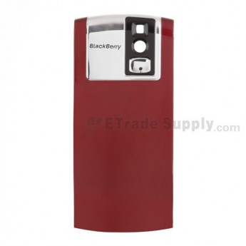 For BlackBerry Pearl 8100 Battery Door Replacement - Black - Grade R