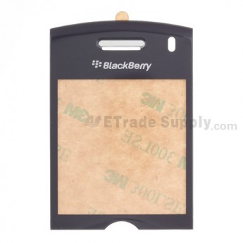For BlackBerry Pearl 8110 Glass Lens with Adhesive Replacement - Grey - Grade R
