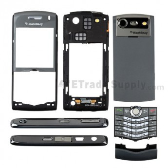For BlackBerry Pearl 8120 Complete Housing with Intermixed Components Replacement - Gray - Grade R