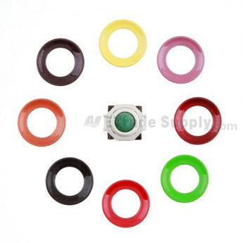 For BlackBerry Pearl 8100,8300,8800,8220,9000 Green Trackball and White Inner Ring Assembly with Outer Ring Replacement - Neon Green - Grade R