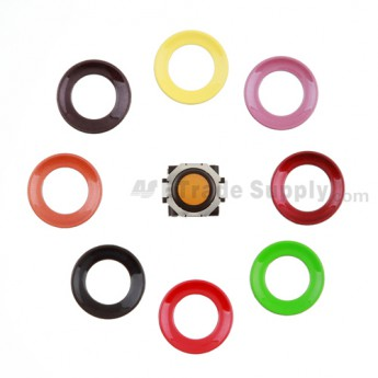 For BlackBerry Pearl 8100,8300,8800,8220,9000 Orange Trackball and Black Inner Ring Assembly with Outer Ring Replacement - Neon yellow - Grade R