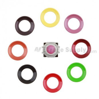 For BlackBerry Pearl 8100,8300,8800,8220,9000 Pink Trackball and White Inner Ring Assembly with Outer Ring Replacement - Black - Grade R