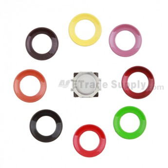 For BlackBerry Pearl 8100,8300,8800,8220,9000 White Trackball and White Inner Ring Assembly with Outer Ring Replacement - Dark Red - Grade R