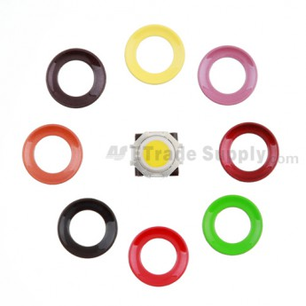 For BlackBerry Pearl 8100,8300,8800,8220,9000 Yellow Trackball and White Inner Ring Assembly with Outer Ring Replacement - Dark Purple - Grade R