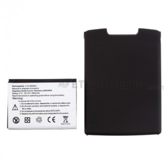 For BlackBerry Storm 9500 Extended Life Battery with Over-sized Battery Door Replacement (2800 mAh) - Grade R