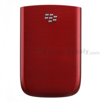 For BlackBerry Torch 9800 Battery Door Replacement - Red - Grade R
