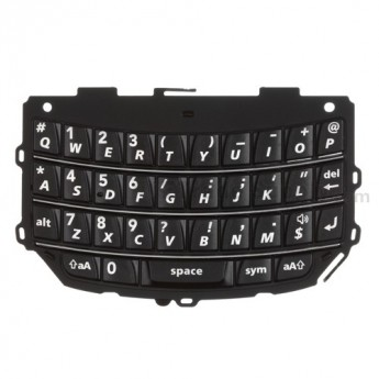 For BlackBerry Torch 9800 QWERTY Keypad Replacement - Black - Grade R