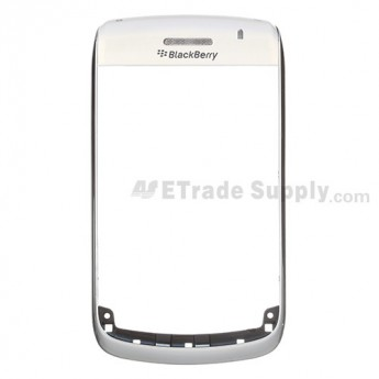 For BlackBerry Bold 9700 Front Housing and Top Cover Replacement - White - Grade R
