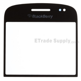 For BlackBerry Bold Touch 9900, 9930 Glass Lens Replacement - Black - Grade R