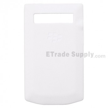 For BlackBerry Porsche Design P'9981 Battery Door Replacement - White - Grade R