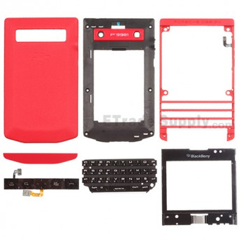 For BlackBerry Porsche Design P'9981 Complete Housing Replacement - Red - Grade R