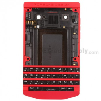 For BlackBerry Porsche Design P'9981 Housing Replacement - Red-Grade R