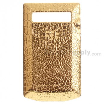 For BlackBerry Porsche Design P'9981 Leather Battery Door Replacement - Gold - Grade R
