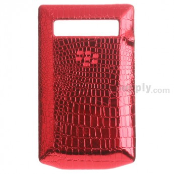 For BlackBerry Porsche Design P'9981 Leather Battery Door Replacement - Red - Grade R