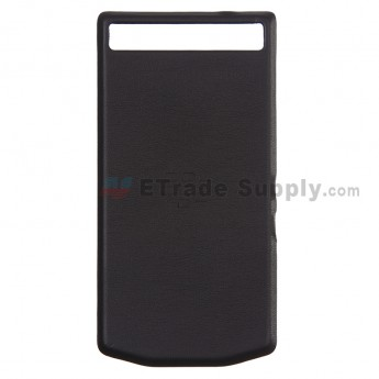 For BlackBerry Porsche Design P'9982 Battery Door Replacement - Black - Grade R