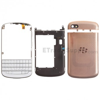 For BlackBerry Q10 Complete Housing Replacement - Gold - Grade R