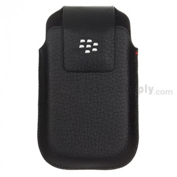 For BlackBerry Torch 9800 Leather Case with Clip - Grade R