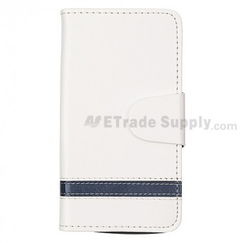 For BlackBerry Z10 Soft Leather Case - White - Grade R