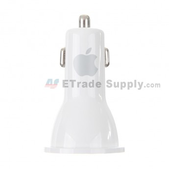 For Dual USB Port Car Charger - White