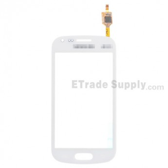 For Samsung Galaxy S Duos GT-S7562, S7560 Digitizer Touch Screen Replacement - White - With Logo - Grade S+