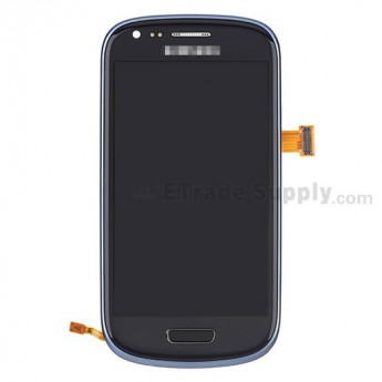 For Samsung Galaxy S III Mini I8190 LCD Screen and Digitizer Assembly with Front Housing Replacement - Blue - Grade S+