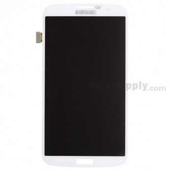 For Samsung Galaxy Mega 6.3 I9200 LCD Screen and Digitizer Assembly Replacement - White - With Logo - Grade S+
