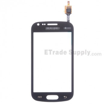 For Samsung Galaxy S Duos 2 GT-S7582 Digitizer Touch Screen Replacement - Black - With Logo - Grade S+