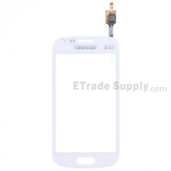 For Samsung Galaxy S Duos 2 GT-S7582 Digitizer Touch Screen Replacement - White - With Logo - Grade S+