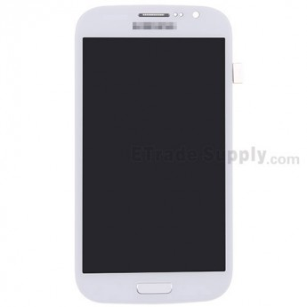 For Samsung Galaxy Grand Duos I9082 LCD Screen and Digitizer Assembly with Front Housing Replacement - White - Grade S