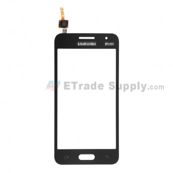For Samsung Galaxy Core 2 Samsung-G355 Digitizer Touch Screen Replacement - Black - With Logo - Grade S