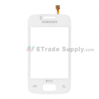 For Samsung Galaxy Y Duos S6102 Digitizer Touch Screen Replacement - White - With Logo - Grade S+