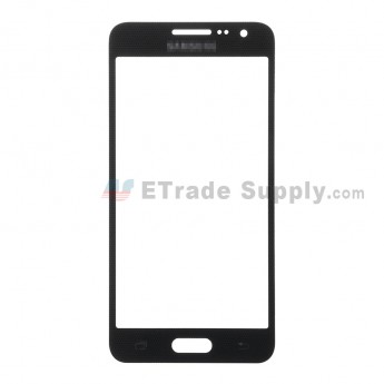 For Samsung Galaxy A3 SM-A300 Glass Lens Replacement - Black - With Logo - Grade S+
