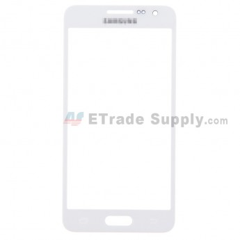 For Samsung Galaxy A3 Samsung-A300 Glass Lens Replacement - White - With Logo - Grade S+