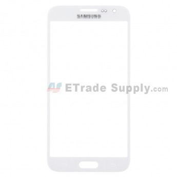 For Samsung Galaxy Core Max Samsung-G5108 Glass Lens Replacement - White - Grade S+