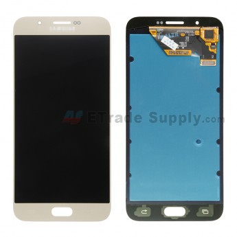 For Samsung Galaxy A8 Samsung-A800 LCD Screen and Digitizer Assembly Replacement - Gold - With Logo - Grade S+