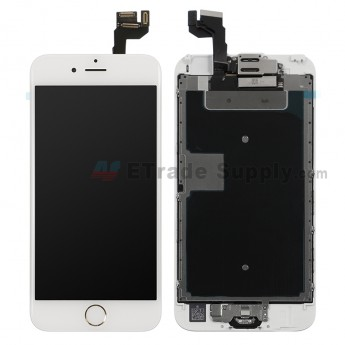 For Apple iPhone 6S LCD Screen and Digitizer Assembly with Frame and Home Button Replacement - Gold - Grade R