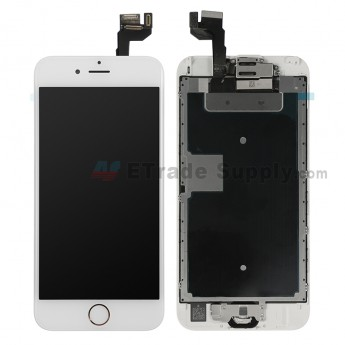 For Apple iPhone 6S LCD Screen and Digitizer Assembly with Frame and Home Button Replacement - Rose Gold - Grade R