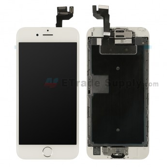 For Apple iPhone 6S LCD Screen and Digitizer Assembly with Frame and Home Button Replacement - Silver - Grade R