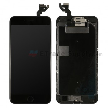 For Apple iPhone 6S Plus LCD Screen and Digitizer Assembly with Frame and Home Button Replacement - Black - Grade R