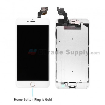 For Apple iPhone 6 Plus LCD Screen and Digitizer Assembly with Frame and Home Button Replacement - Gold - Grade A