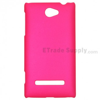 For HTC 8S Protective Case - Fushsia - Grade R