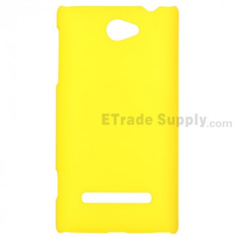 For HTC 8S Protective Case - Yellow - Grade R