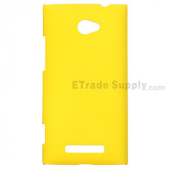 For HTC 8X Protective Case - Yellow - Grade R