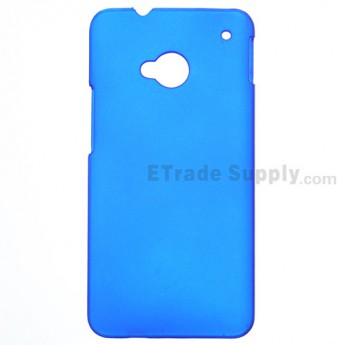 For HTC One Matte Protective Case - Blue - Grade R