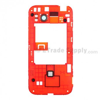 For HTC Rezound Middle Plate Replacement - Red - Grade R