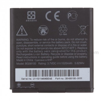 For HTC Sensation 4G Battery Replacement (1520 mAh) - Grade R