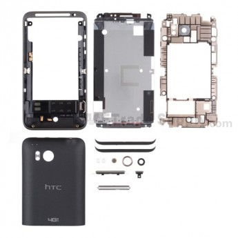For HTC Thunderbolt Complete Housing Replacement (Verizon Wireless) - Black - Grade R