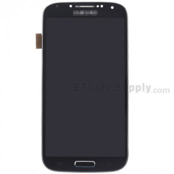 For Samsung Galaxy S4 SCH-I545/R970/L720 LCD Assembly with Front Housing Replacement - Black - With Logo - Grade S