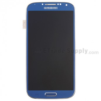 For Samsung Galaxy S4 SCH-I545/R970/L720 LCD Assembly with Front Housing Replacement - Sapphire - With Logo- Grade S