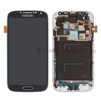 For Samsung Galaxy S4 SCH-I545/R970/L720 LCD Screen and Digitizer Assembly with Front Housing Replacement - Black - With Logo - Grade S+